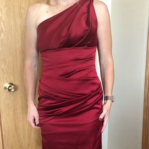 David's Bridal Apple Red Dress, Size 6